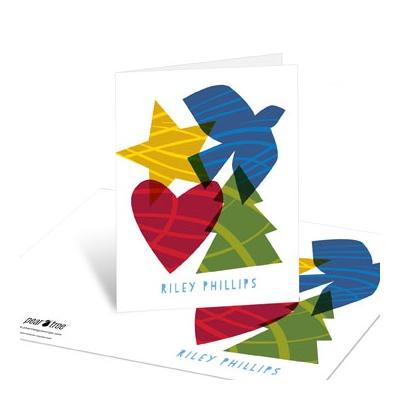 Peace, Hope, Love, Joy Christmas Thank You Cards