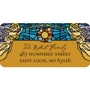Stained Glass -- Christmas Address Labels