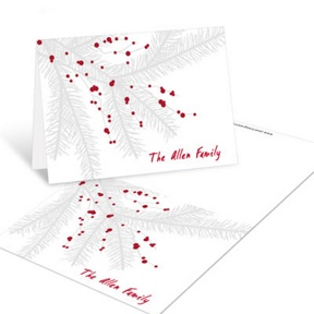 Branch With Berries -- Christmas Mini Note Cards
