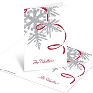 Silver Snowflake Christmas Mini Note Cards