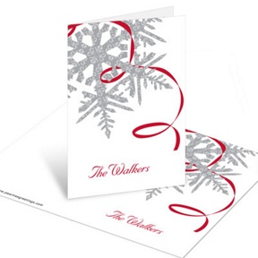 Silver Snowflake -- Christmas Mini Note Cards