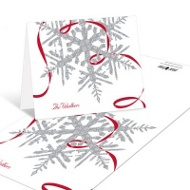 Silver Snowflake Christmas Thank You Cards
