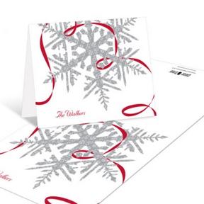 Silver Snowflake -- Christmas Thank You Cards