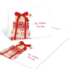 Elegant Gifts -- Christmas Mini Note Cards