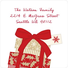 Elegant Gifts -- Christmas Address Labels