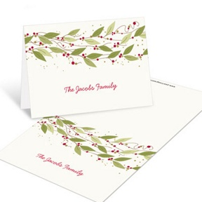Gold Stars -- Christmas Mini Note Cards