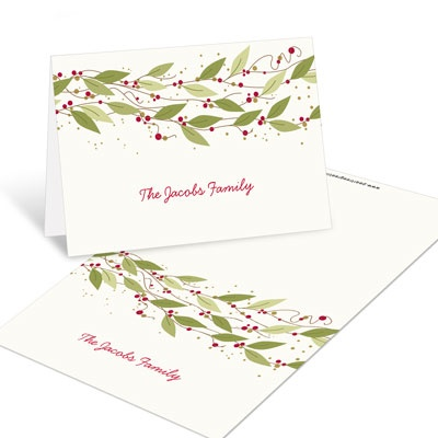 Gold Stars Christmas Mini Note Cards