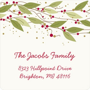 Berry Christmas -- Christmas Address Labels