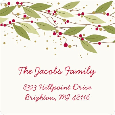 Berry Christmas Christmas Address Labels