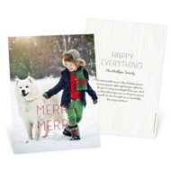 Merry Merry Vertical Photo Holiday Photo Cards
