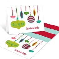 Retro Ornaments Christmas Mini Note Cards