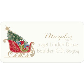 Classic Sleigh -- Christmas Address Labels