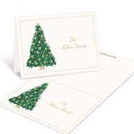Candlelit Tree Christmas Mini Note Cards