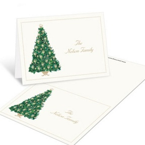 Candlelit Tree -- Christmas Mini Note Cards