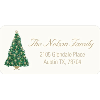 Candlelit Tree Christmas Address Labels