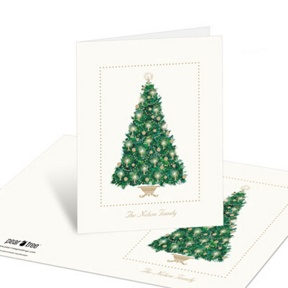 Candlelit Tree -- Christmas Thank You Cards