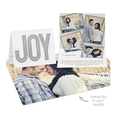 Joy Poster Holiday Photo Cards