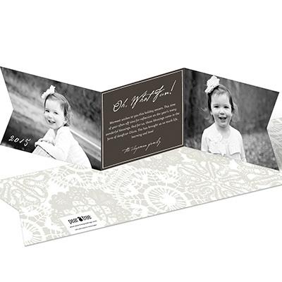 Ribbon Greeting Holiday Photo Cards