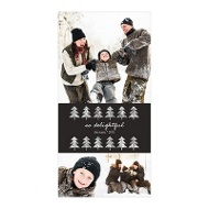 Photo Paper Glitter Tri-Photo Vertical Christmas Cards
