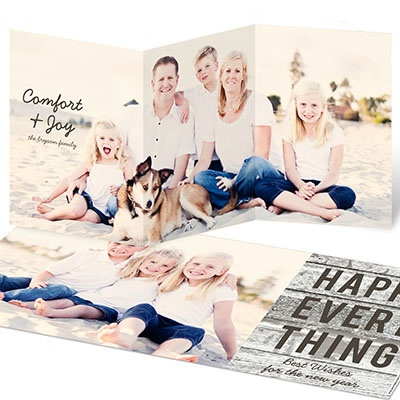 Long Look Photo Christmas Cards