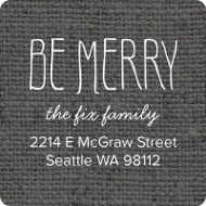 Linen Look Christmas Address Labels