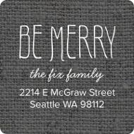 Linen Look Christmas Address Labels