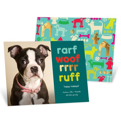 Woof Wishes Holiday Photo Cards