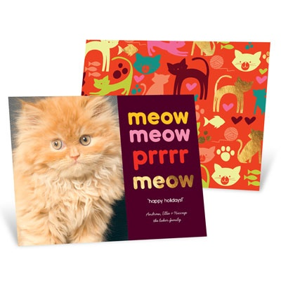 Merry Meow Holiday Photo Cards