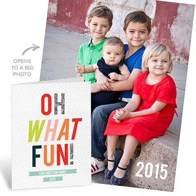 Oh What Fun Poster Photo Christmas Cards