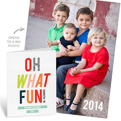 Oh What Fun Poster Holiday Photo Cards