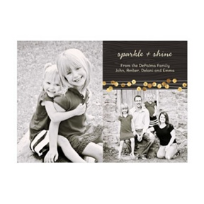 Photo Paper Gold Sequin Look -- Christmas Cards