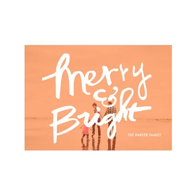 Photo Paper Merry & Bright Screen Photo Christmas Cards