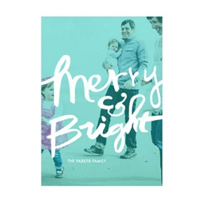 Photo Paper Merry & Bright Screen Vertical -- Christmas Cards