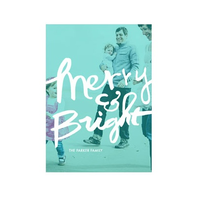 Photo Paper Merry & Bright Screen Vertical Photo Christmas Cards