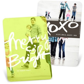 Merry & Bright Vertical Photo Screen -- Christmas Cards