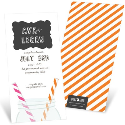 Sip Something Cool Bridal Shower Invitations