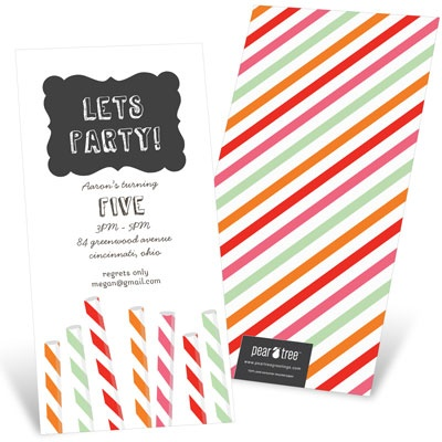 Sip Something Cool Kids Birthday Invitations