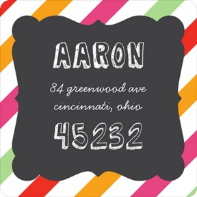 Sip Something Cool -- Address Labels