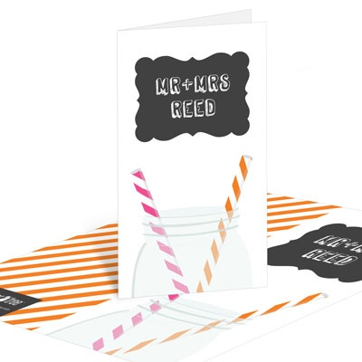 Sip Something Cool Bridal Shower Thank You Cards