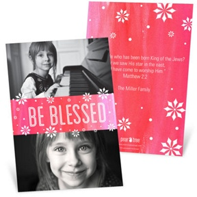 Be Blessed -- Religious Christmas Cards