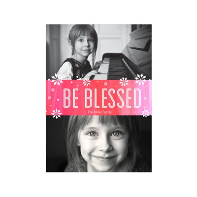Photo Paper Be Blessed Religious Christmas Cards