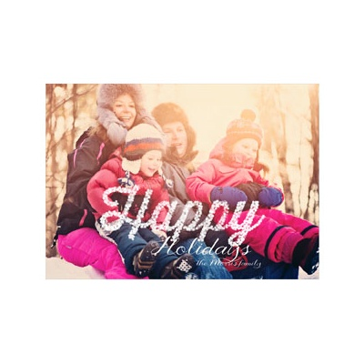 Photo Paper Merry Lights Photo Christmas Cards