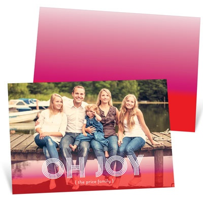 Ombre Joy Photo Christmas Cards