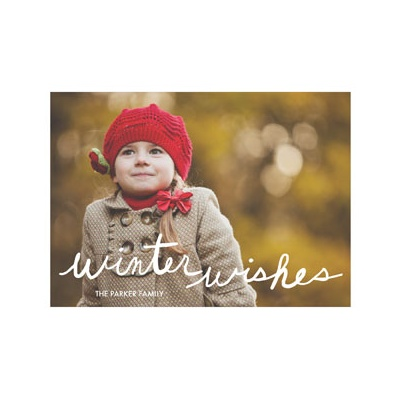 Photo Paper Handwritten Wishes Holiday Photo Cards