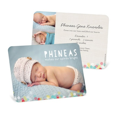 Twinkle Lights Birth Announcements