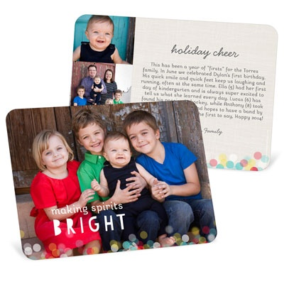 Twinkle Lights Horizontal Holiday Photo Cards
