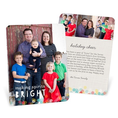 Twinkle Lights Vertical Holiday Photo Cards