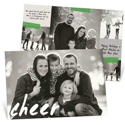 Handwritten Cheer Photo Christmas Cards
