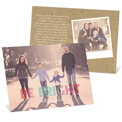 Ombre Greeting Holiday Photo Cards