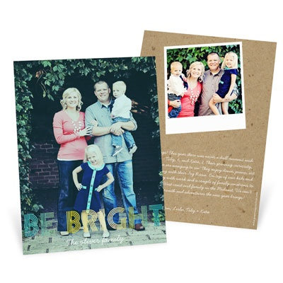 Ombre Greeting Vertical Holiday Photo Cards